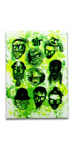 Sticker Sheet Green Yellow on White 2