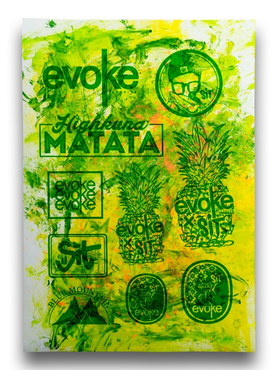 Sticker Sheet Green Green on White